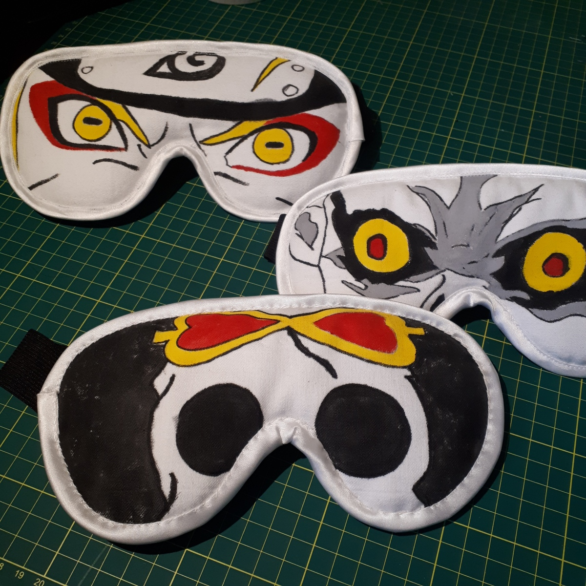 Hand painted eye masks