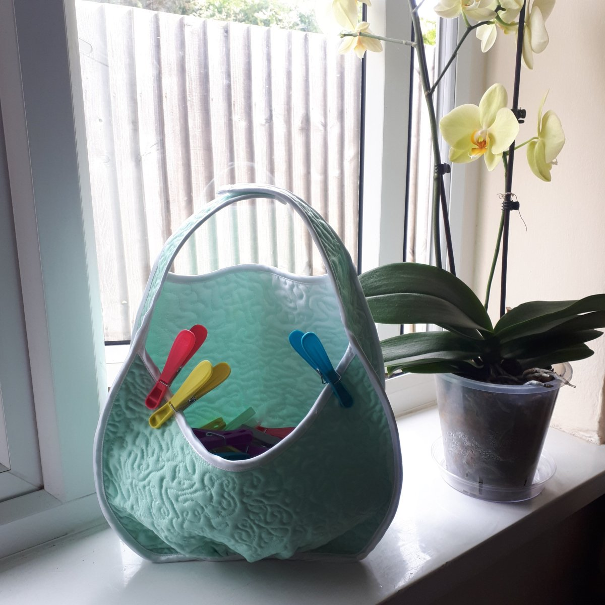 Free peg bag pattern + sewing tutorial