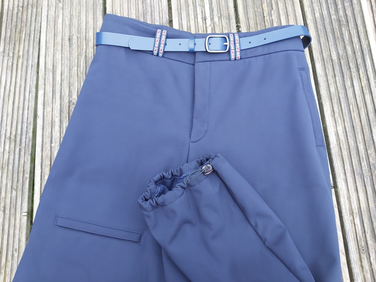 Make your first elasticated trousers hem with a stopper